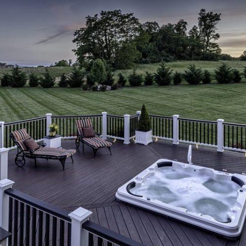 Custom Deck Trex Installation w- Hot Tub Pool Deck by Alabama Decks