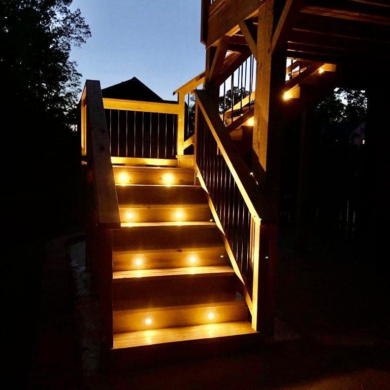 Deck Lighting Installation by Alabama Decks & Exteriors