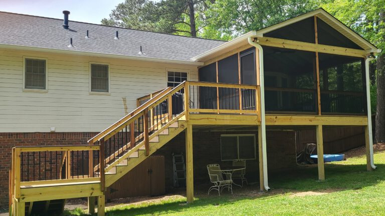 Screened-In Porch & Deck by Alabama Decks & Exteriors - Shelby County Decking Contractors