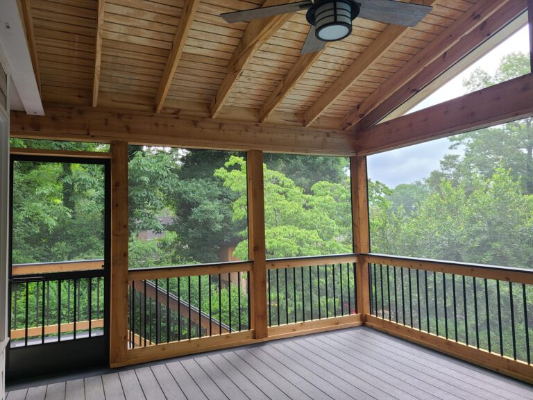 Trex Composite Decking on Screened-In Porch by Alabama Decks & Exteriors - Shelby County Deck Contractors
