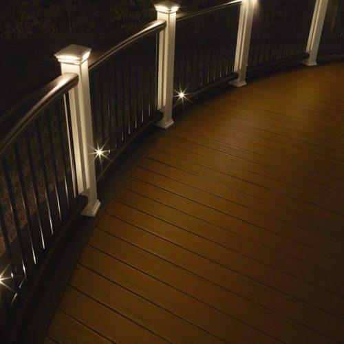 Trex Deck Contractors w- Deck Lighting Installation by Alabama Decks - Shelby County