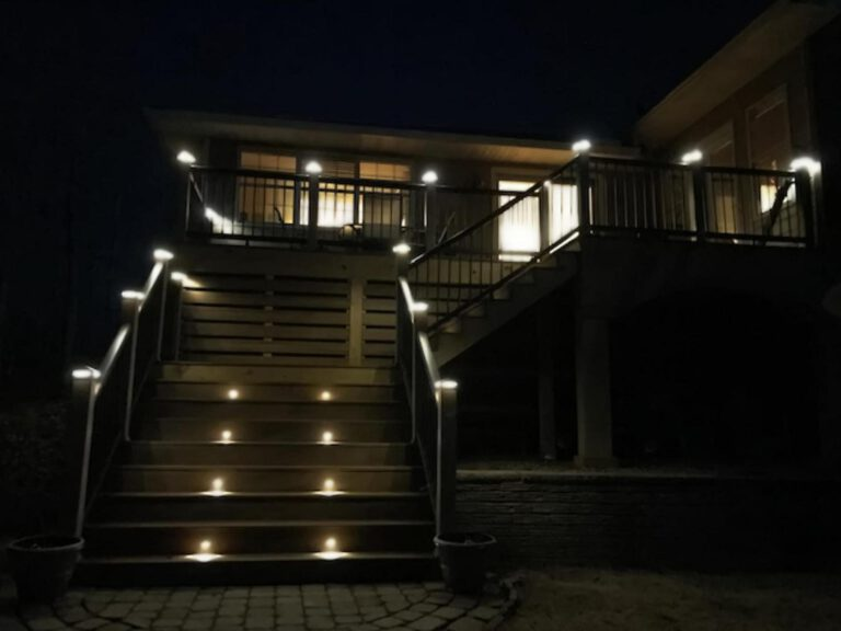 Trex Deck with LED Lighting by Alabama Decks & Exteriors - Shelby County Contractors