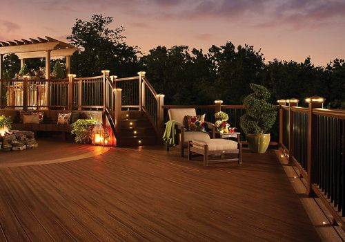 Trex Decking w- Deck Lighting Installation by Alabama Decks - Shelby County